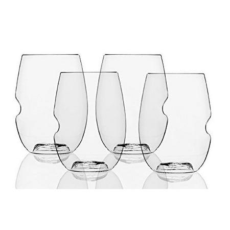 The govino Dishwasher Safe Wine Glasses Flexible Shatterproof Recyclable, 16-ounce, Bulk Case of 72