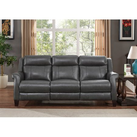 Red Barrel Studio Guyette Leather Reclining Sofa