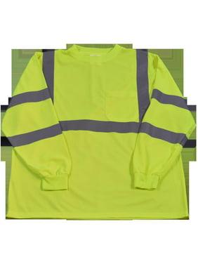 petra roc ltsl3-l high-visibility class 3 t shirt with moisture wicking mesh birdseye, large