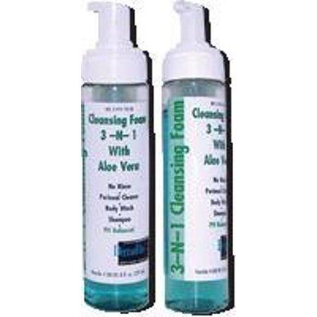 Dermarite 3-n-1 Cleansing Foam, No-Rinse, Latex-Free 7-3/4