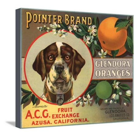 Pointer Brand - Glendora, California - Citrus Crate Label Stretched Canvas Print Wall Art By Lantern Press](Halloween Glendora)