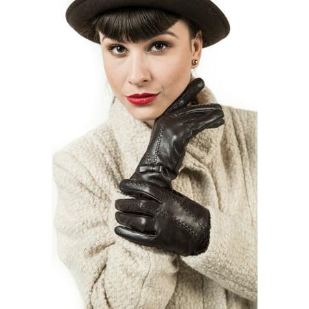 Mio Marino - Marino Womens Warm Fashion Leather Gloves