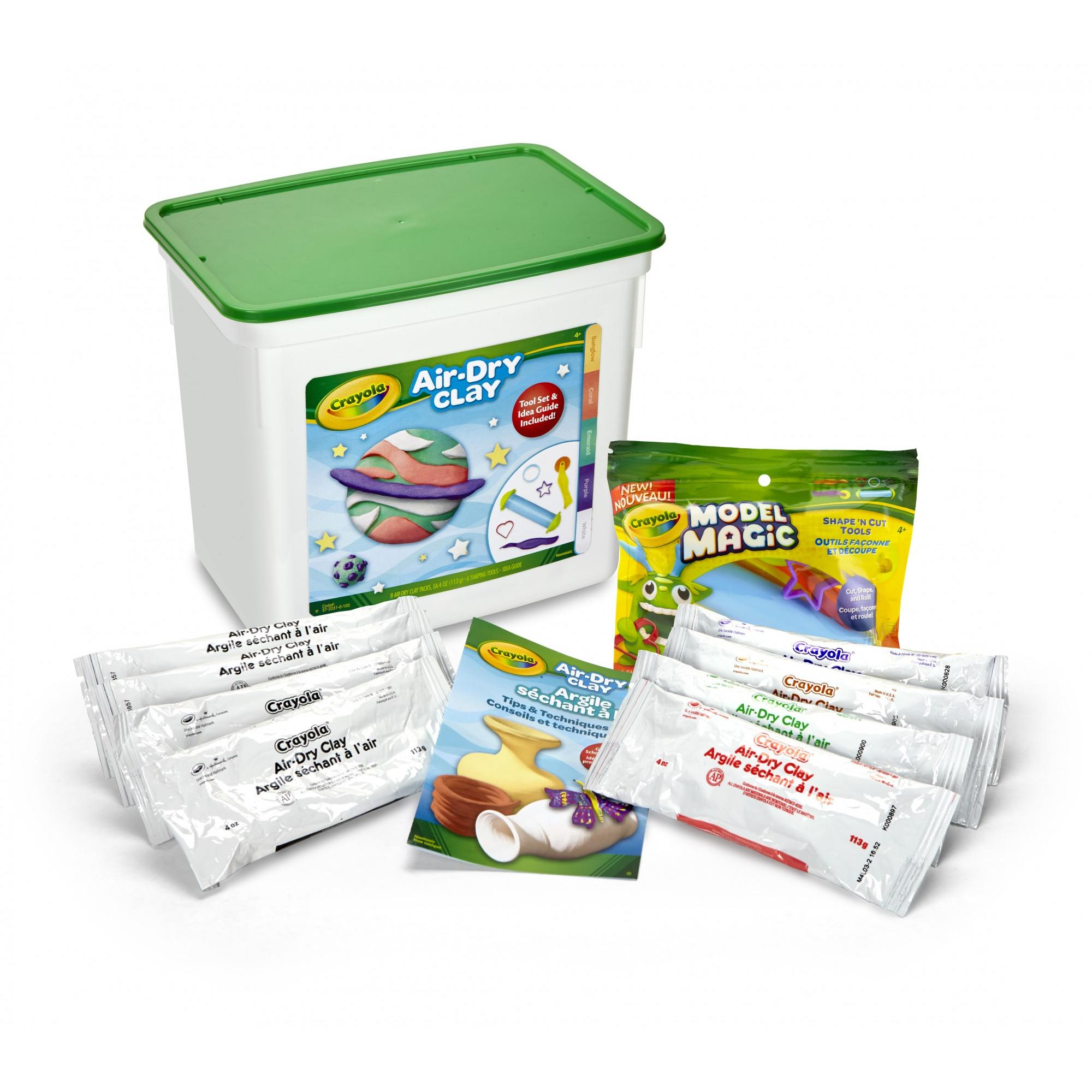 Crayola Air-Dry Clay Creativity Set with Tools and Instructions