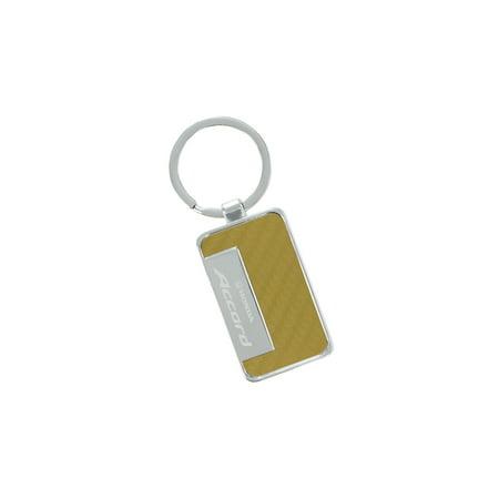 - Honda Accord Gold Simulated Carbon Fiber Key Chain
