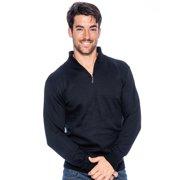 True Rock Men's Big & Tall Size Mock Neck 1/2  Zip Sweater
