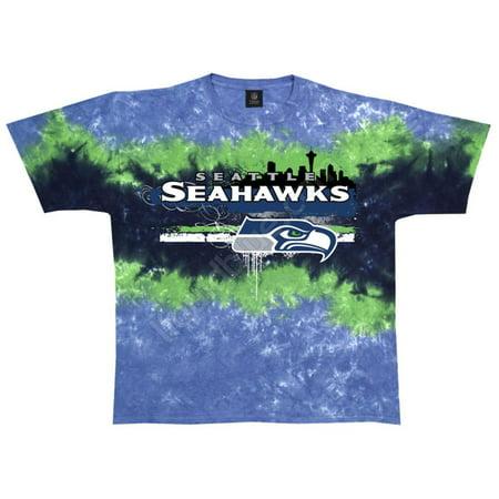 NFL: Seahawks Horizontal Stencil Apparel T-Shirt - Tie Dye (Dye Clothes)