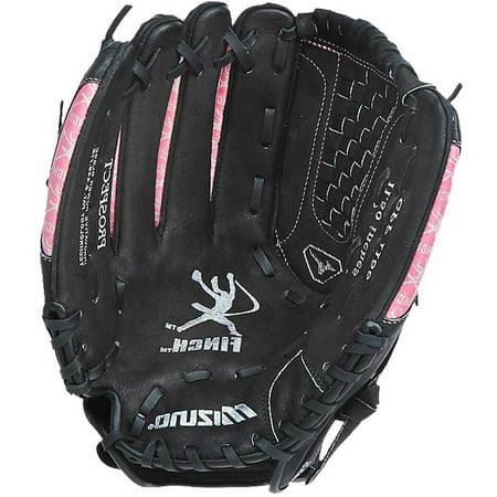 Mizuno Youth GPP1155 Prospect Fast Pitch Softball Mitt Right Black Pink