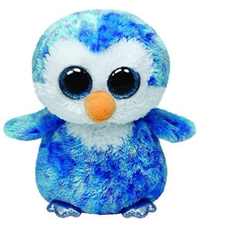 Ty Ice Cube the Blue Penguin Beanie Boos Soft Stuffed Plush Toy