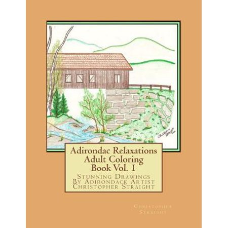 Adirondac Relaxations: Adult Coloring Book, Volume 1: Stunning Drawings by Adirondack Artist Christopher... by