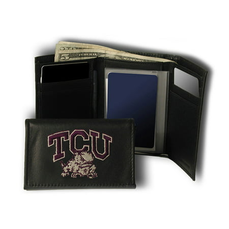 Texas Christian Horned Frogs NCAA Embroidered Trifold Wallet Texas Christian Horned Frogs