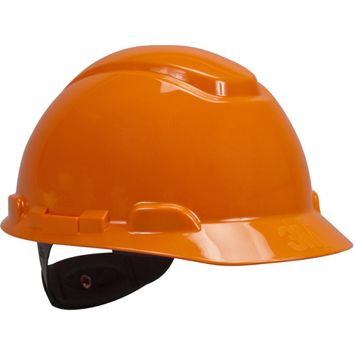 3M H-706R Orange 4 Point Ratchet Suspension Hard Hat by 3M
