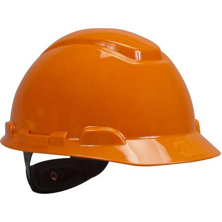3M H-706R Orange Four-Point Ratchet Suspension Hard Hat