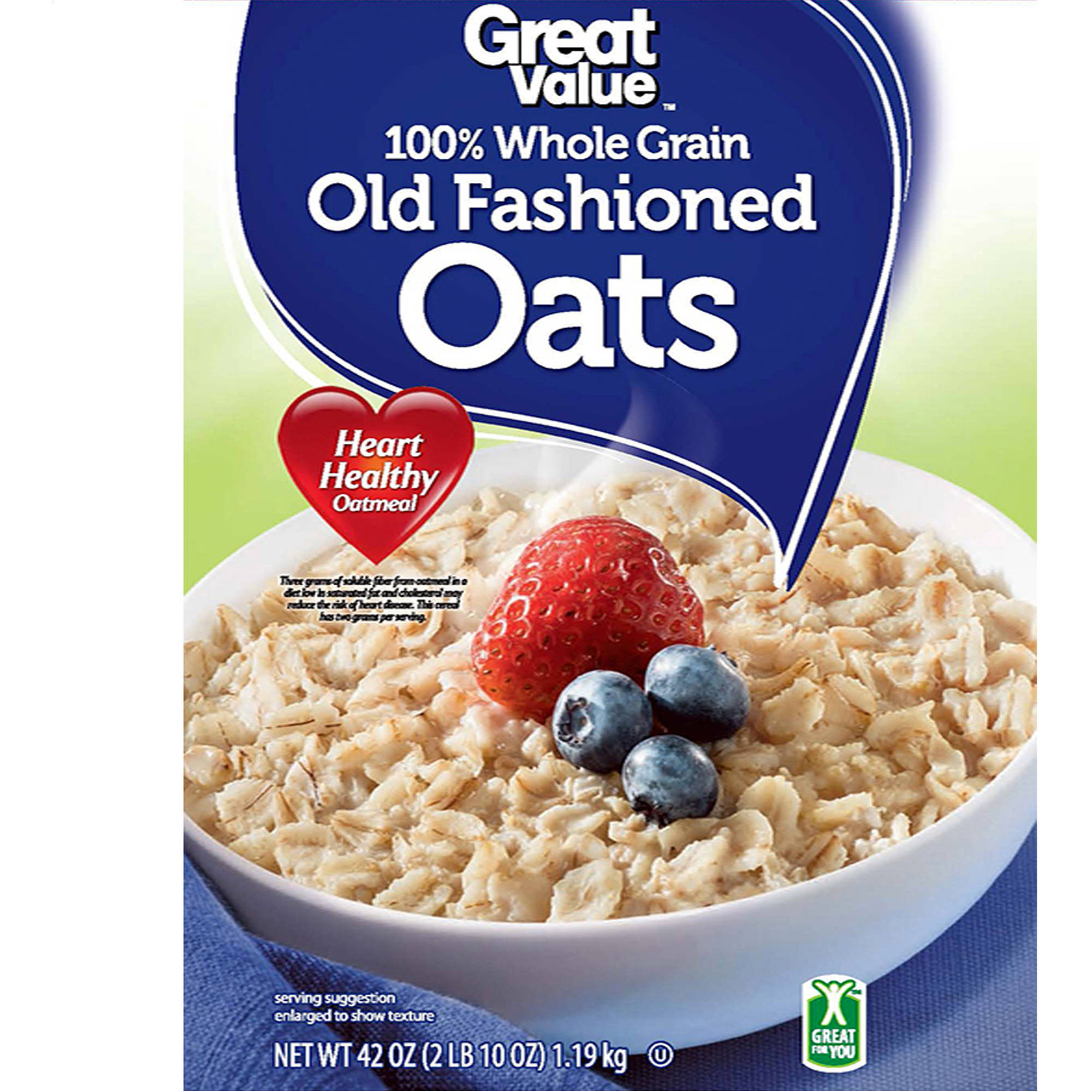 Great Value: Oven-Toasted Old Fashioned Oats, 42 Oz
