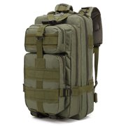 30L Tactical Backpack, URHOMEPRO Outdoor Survival Military Backpack Molle Bag, Oxford Cloth Backpack for Men Women Youth, Out Bag for Hiking Trekking, Camping, Traveling, Army Green, W8749