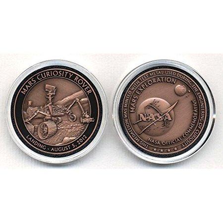 - Nasa Space Program Commemorative Mars Curiosity Rover Medallion Coin Token