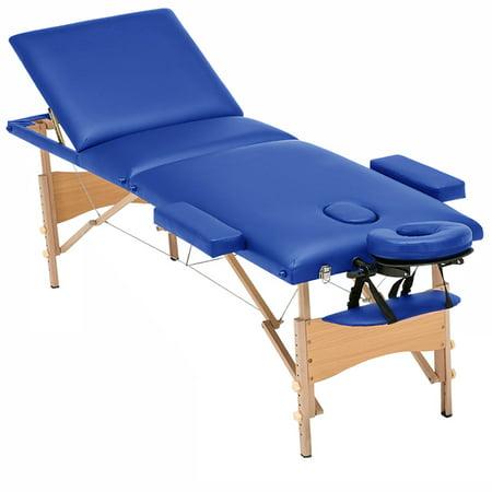 Luxor Elite Professional Oversized Portable Folding Massage Table w/Bonuses - Royal