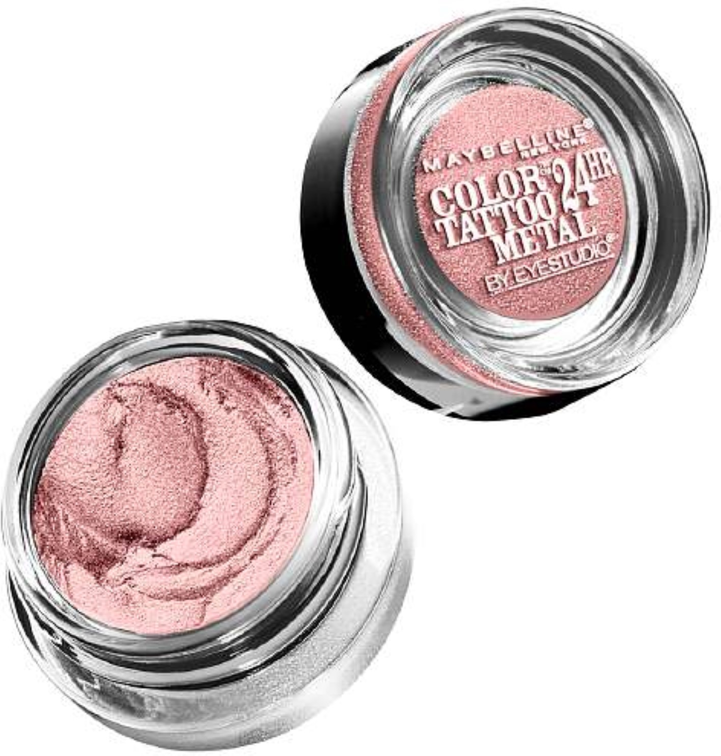 Maybelline New York Color Tattoo 24Hr Leather by EyeStudio Cream Gel Eyeshadow, Inked In Pink 0.14 oz (Pack of 2)