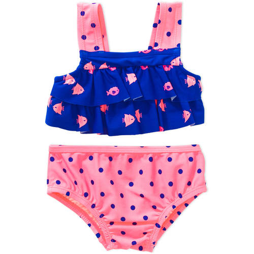 Child of Mine by Carter's Newborn Infant Girls 2 Piece Swimsuit, Online Exclusive