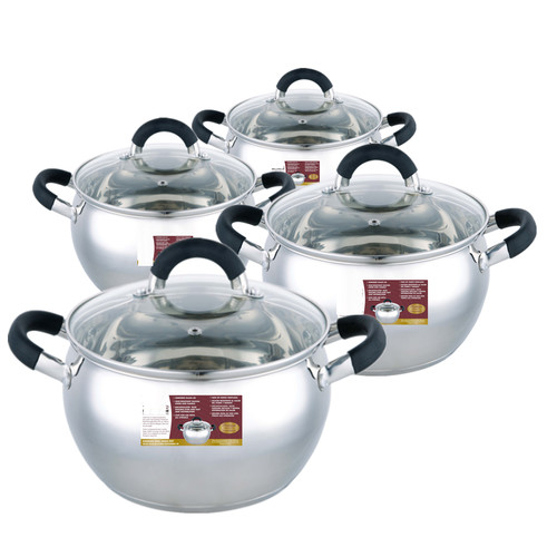 Meglio 8-Piece Non-Stick Stainless Steel Cookware Set
