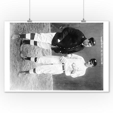 Washburn & Marquard Discuss Pitch, NY Giants, Baseball Photo (9x12 Art Print, Wall Decor Travel Poster) - Ny Giants Decor