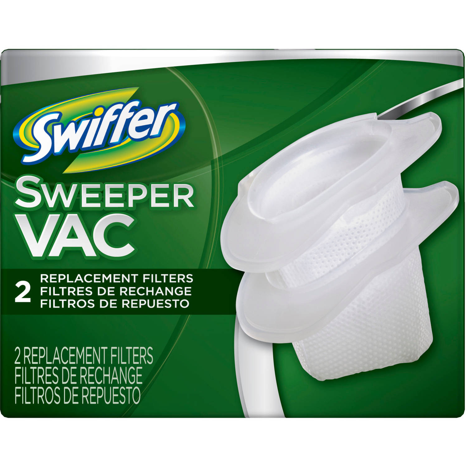 Swiffer SweeperVac Vacuum Replacement Filter, 2 count