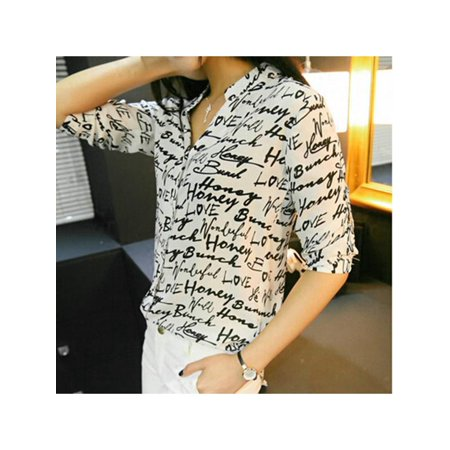 Zebra Triangle Top - VICOODA Women's Letter Print Shirt Blouse Zebra Pattern 3/4 Sleeve Top Button Down Blouse Casual T-Shirt Tops OL