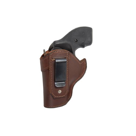 Barsony Left Hand Draw Brown Leather Inside the Waistband Gun Holster Size 2 Charter Arms Rossi Ruger LCR S&W  .22 .38 .357 Revolvers