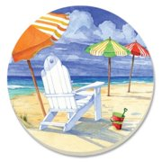 counterart umbrellas on parade absorbent coasters, set of 4