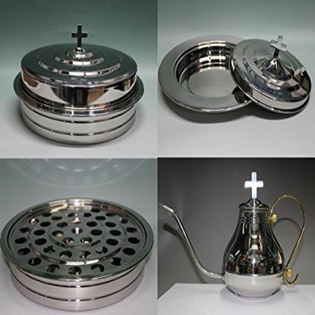 Stainless Steel Communion Tray Set  Cup Tray  Bread Tray And Filler