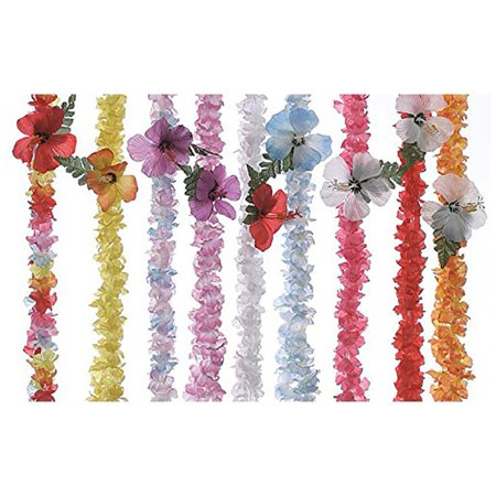 Flower Lei 7th Heaven Bright Assorted Colors Pack of - Floral Leis