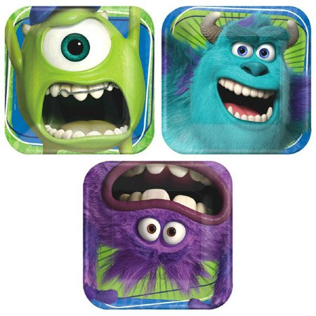Monsters University Inc. 3 Design Small Paper Plates (8ct)