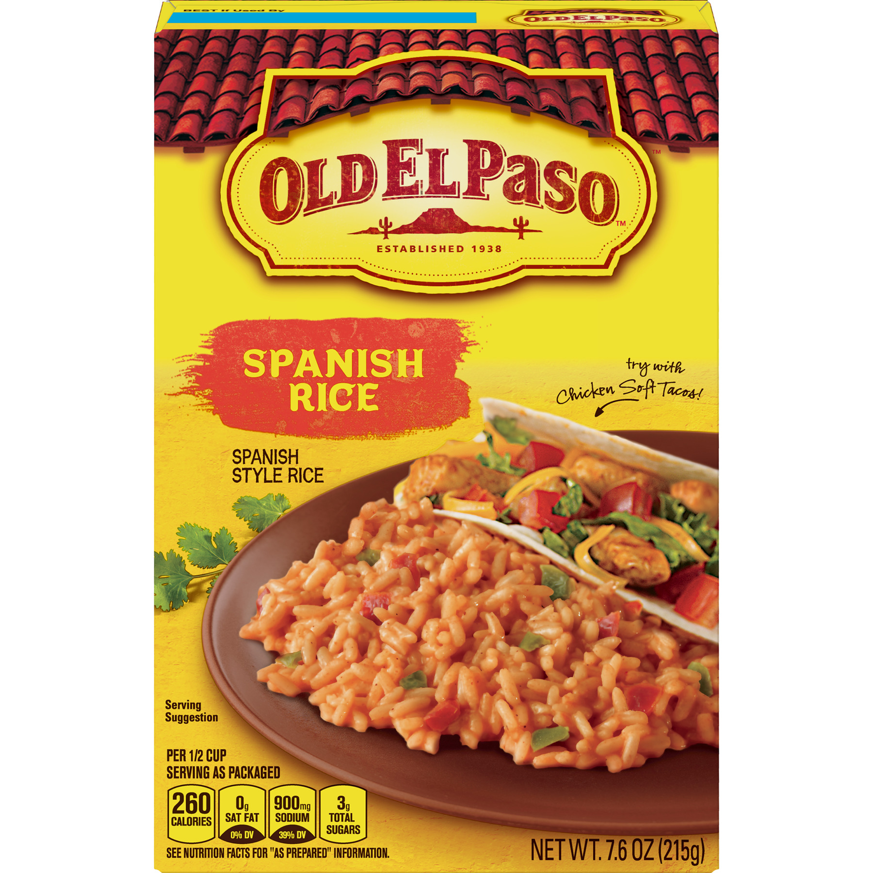 Old El Paso Spanish Rice Sides, 7.6 oz Box