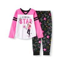 JoJo Siwa Raglan Sleep Shirt and Jogger Pant, 2-Piece Pajama Set (Little Girls & Big Girls)