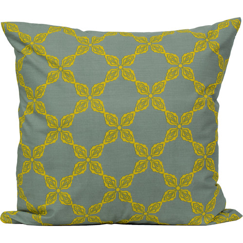 LJ Home Trellis Print Laurel Throw Pillow (Set of 2)