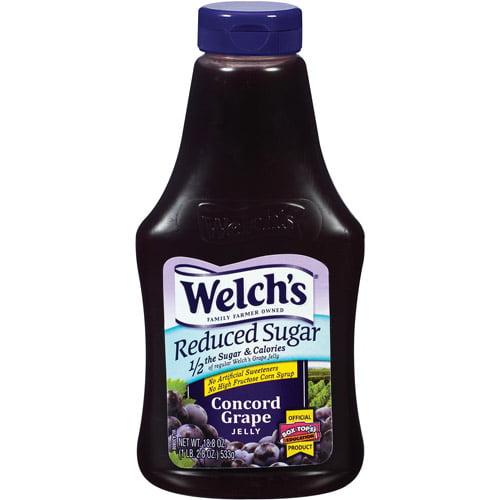 Welchs Reduced Sugar Concord Grape Jelly, 18.8 oz