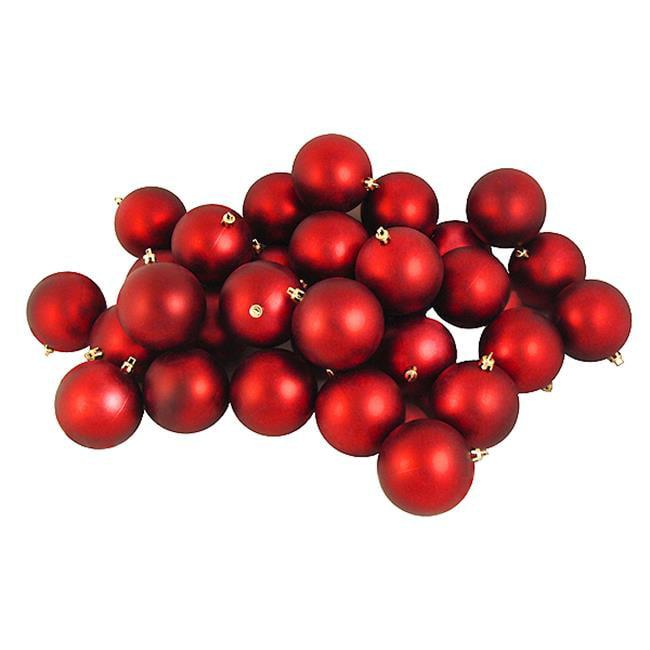Northlight Seasonal 31744284 Matte Red Hot Shatterproof Christmas Ball Ornaments