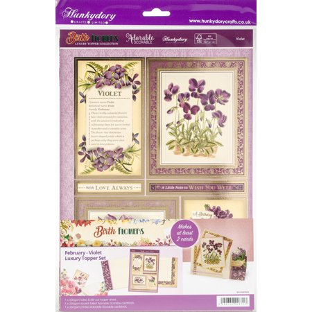 Hunkydory Birth Flowers A4 Topper Set-February-Violet - image 1 de 1