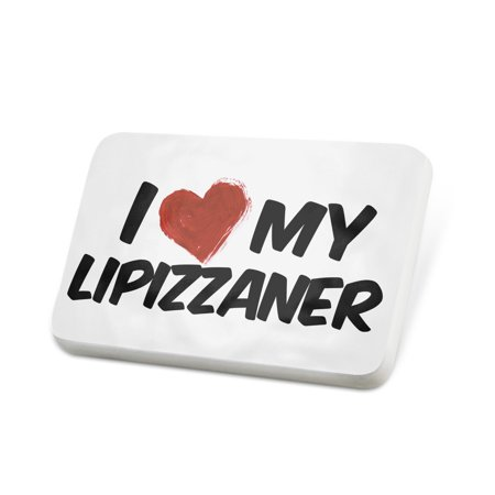 Porcelein Pin I Love my Lipizzaner, Horse Lapel Badge – NEONBLOND