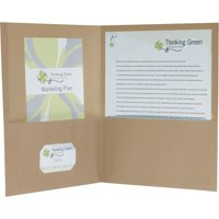 Pendaflex, OXF78542, Oxford EarthWise Recycled Twin Pocket Folders, 25 / Box, Natural