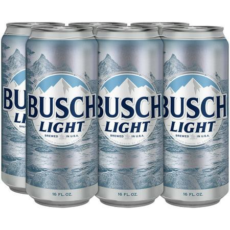 Busch Light® Beer, 6 Pack 16 fl  oz  Cans