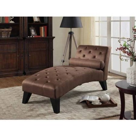Nathaniel home mila microfiber chaise lounge multiple for Brown microfiber chaise lounger