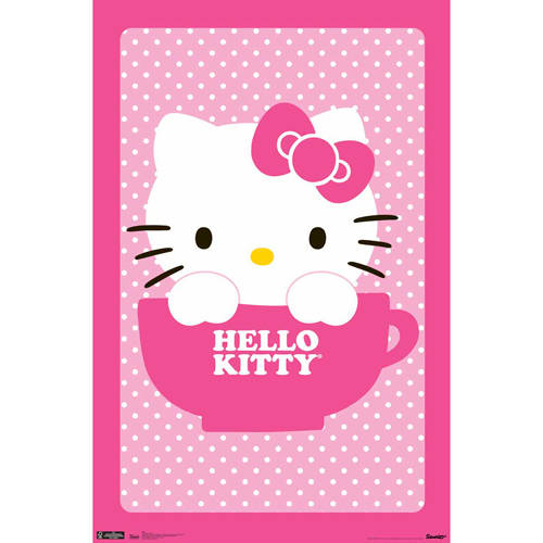 "Trends International Hello Kitty Teacup Poster, 22"" x 34"""