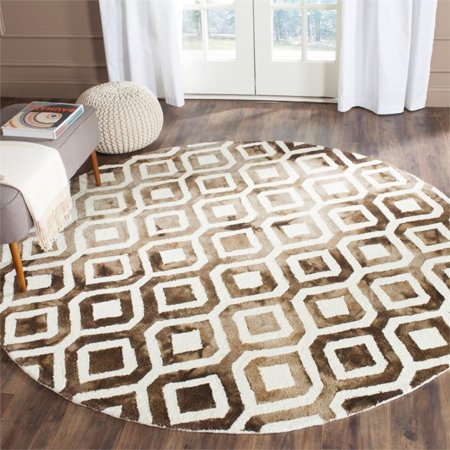 "Safavieh Dip Dye 2'3"" X 6' Hand Tufted Rug in Ivory and Chocolate - image 1 de 10"
