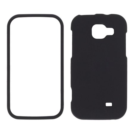 Sprint Two piece Soft Touch Snap-On Case for Samsung Transform M920 - Black