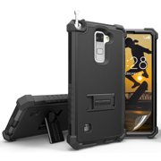 NEW RUGGED TRI-SHIELD HARD CASE COVER STAND FOR LG STYLO-2 4G LS775 STYLUS-2