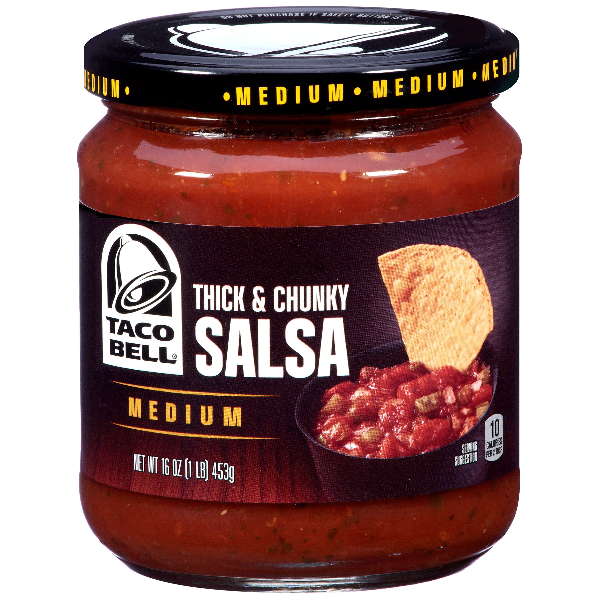 Taco Bell Medium Thick & Chunky Salsa 16 oz. Jar