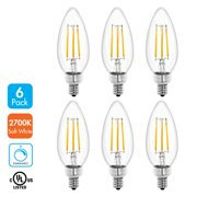Tenergy Led Dimmable Candelabra Filament Light Bulb 4w 40 Watt Equivalent Soft White