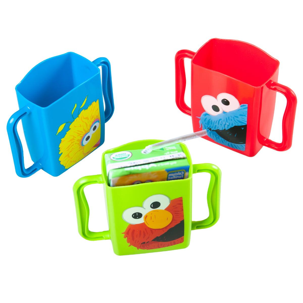 3 Evriholder Sesame Street Juice Box Holders Sippy Cup Drink Mug Handle Baby Kid by Evriholder