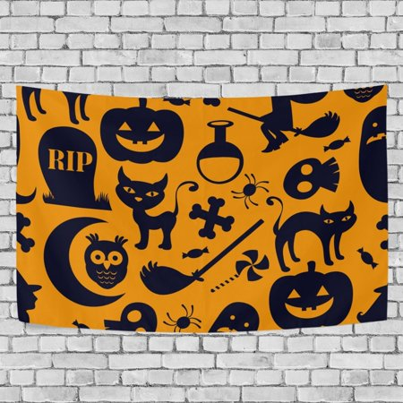 MYPOP Halloween Tapestry Wall Hanging Decoration Home Decor Living Room Dorm 60x51 inches - Halloween Dorm Room Decorations