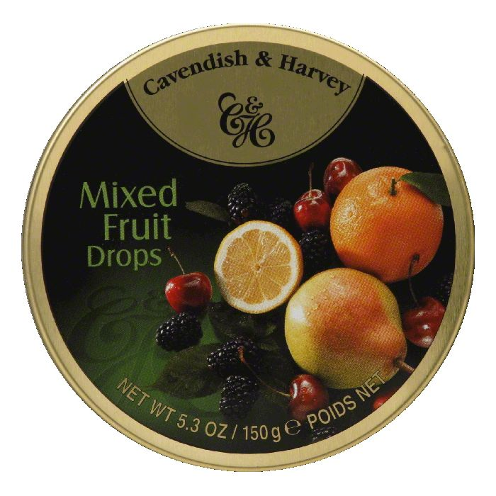 Cavendish & Harvey Mixed Fruit Tin, 5.3 OZ (Pack of 12)